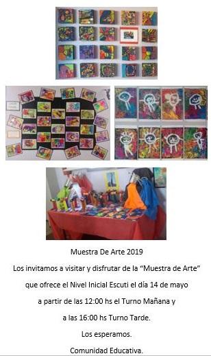 Muestra de Arte en el Nivel Inicial